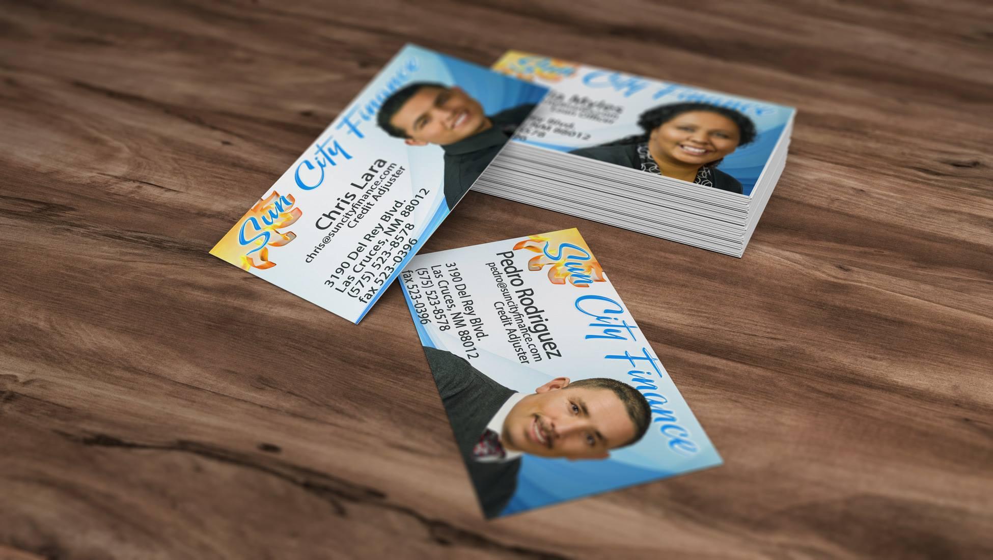 business cards • sun city finance